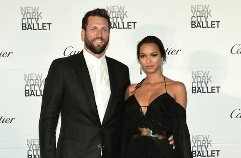 Model Lais Ribeiro (R) and guest attend the New York City Ballet 2017 Spring Gala