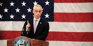 Chicago Mayor Emanuel Hosts A Naturalization Ceremony With Mexico City Mayor Mancera