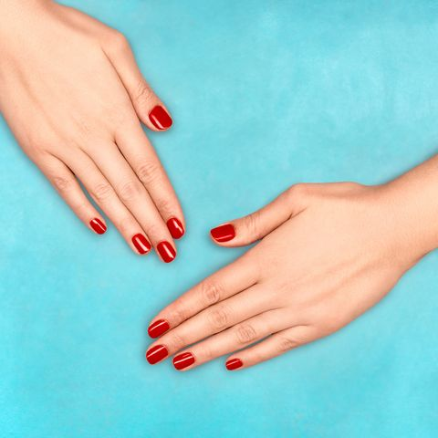 Nail, Finger, Manicure, Nail polish, Nail care, Cosmetics, Hand, Skin, Turquoise, Joint,