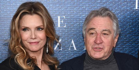 Michelle Pfeiffer and Executive Producer Robert De Niro attend the 'The Wizard Of Lies' New York Premiere at The Museum of Modern Art on May 11, 2017 in New York City