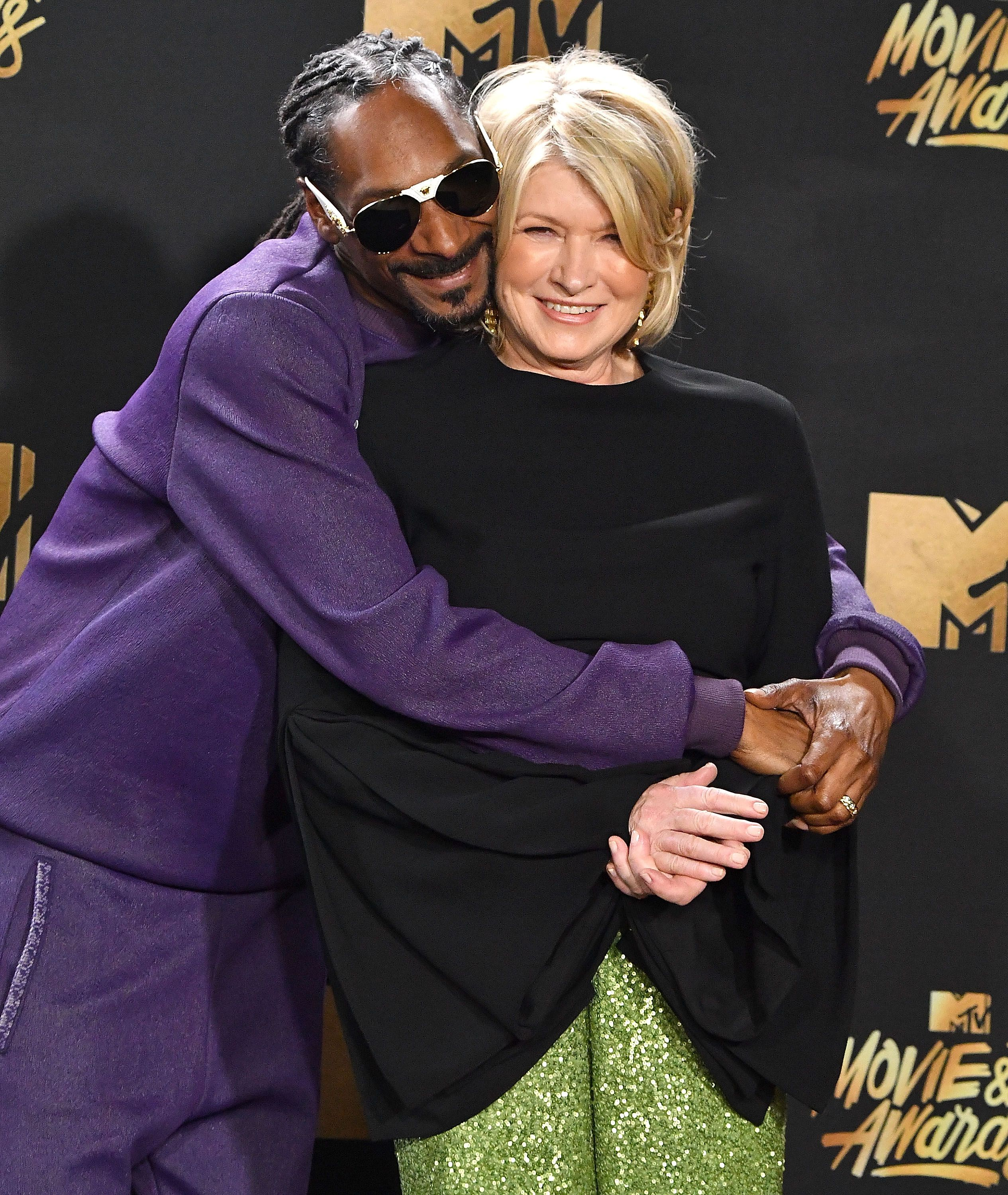 Snoop Dogg and Martha Stewart What do you get when you put one of hip hop's OGs and the most famous homemaker in America in one kitchen? A whole vibe .
