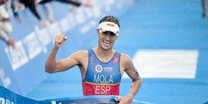 iñaki, arenal, seleccionador, español, triatlón, podio, triple