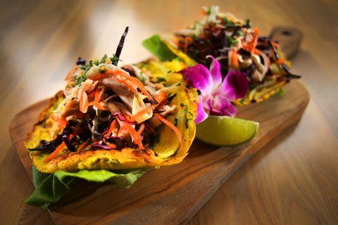 Food, Dish, Cuisine, Ingredient, Panucho, Cochinita pibil, Produce, Recipe, Thai food, appetizer,