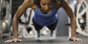 mujer, ejercicio, core, gimnansio