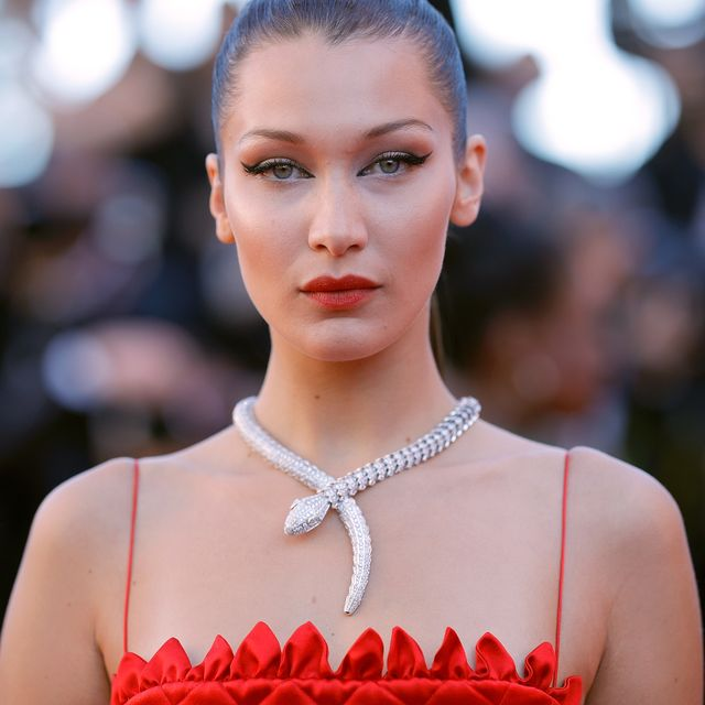 cannes, france   may 19  bella hadid attends the okja screening during the 70th annual cannes film festival at palais des festivals on may 19, 2017 in cannes, france  photo by andreas rentzgetty images