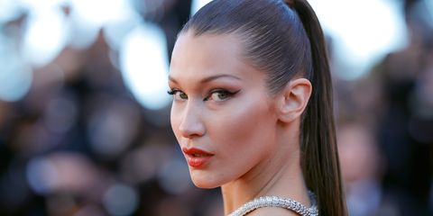 624c1211a2b Bella Hadid Freed the Nipple on Instagram - Bella Hadid Frees the Nipple in  Sheer Tube Top