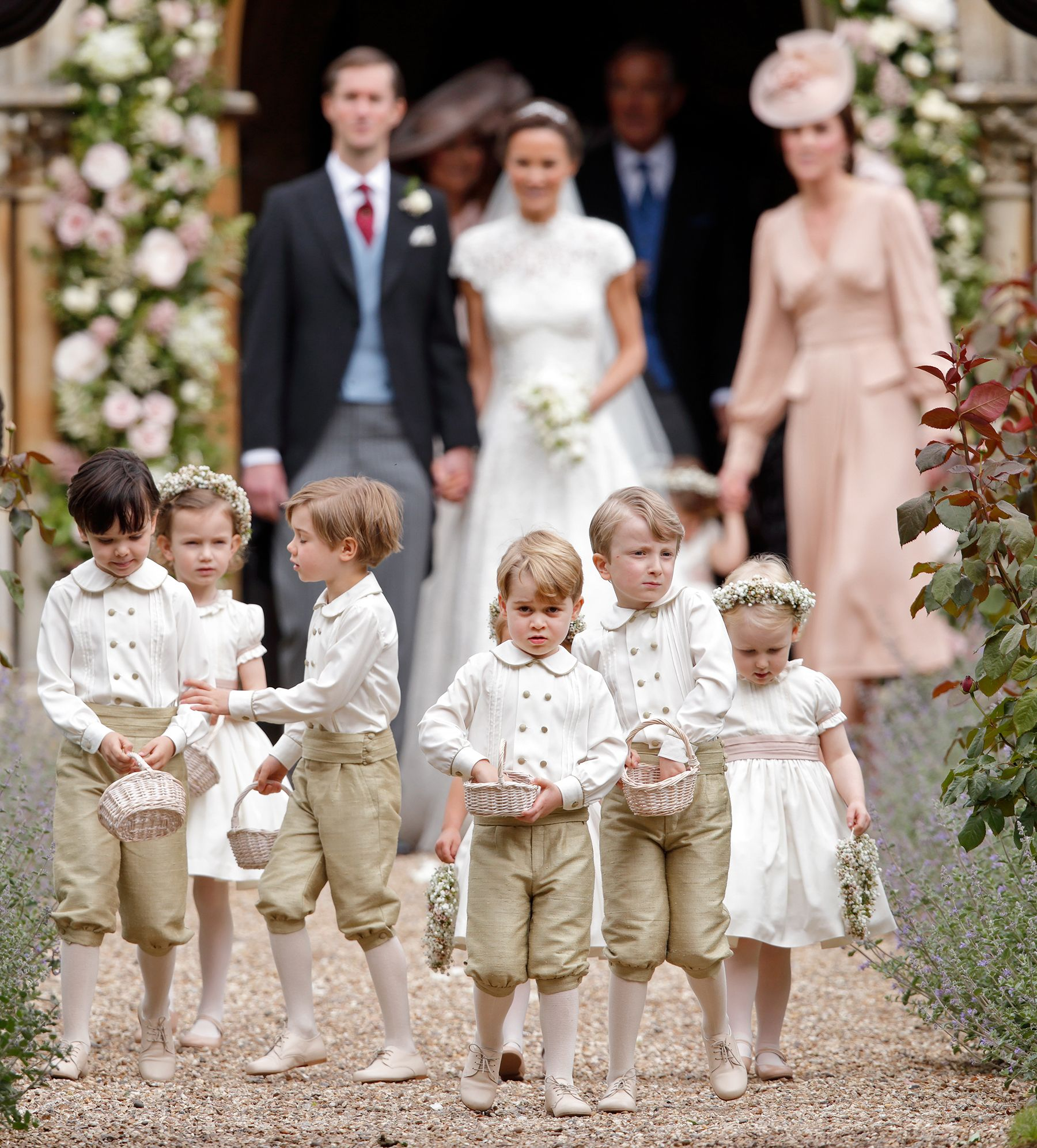 Prince George Is An Adorable Pageboy At Pippa Middleton Wedding S Ring Bearer Outfit
