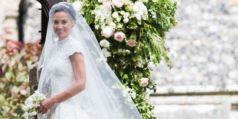 Wedding dress, Bride, Gown, Dress, Veil, Clothing, Photograph, Bridal clothing, Bridal accessory, Bridal veil,