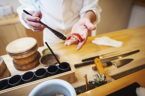 Food, Rolling pin, Cuisine, Hand, Cooking, Dish, Cutting board, Finger, Recipe, Breakfast,