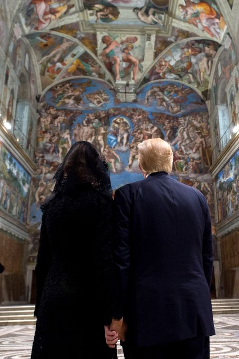 melania and donald trump at sistine chapel