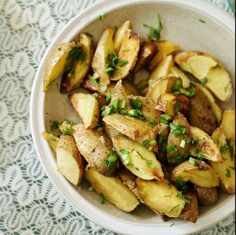 Eastern European potato dish on table