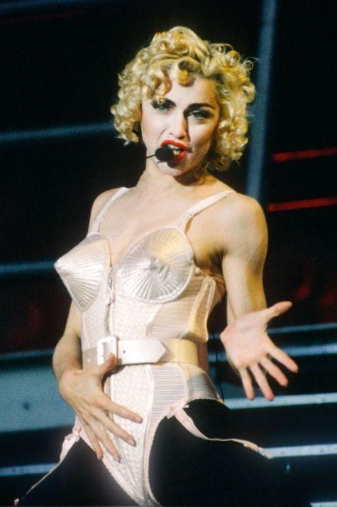 Madonna jean paul gaultier cone bra