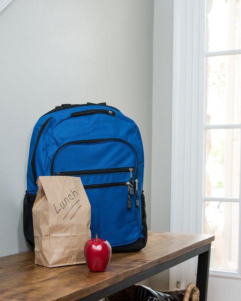 Room, Baggage, Bag, Hand luggage, Luggage and bags, Backpack, House, Furniture, Shelf,