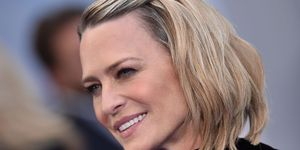 Robin Wright, getrouwd, House of Cards, actrice, boho, jurk, trouwjurk