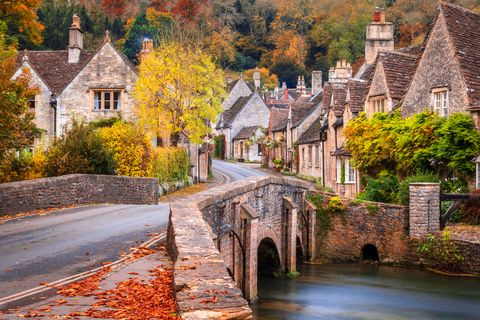 castle combe in wiltshire, england in the autumn