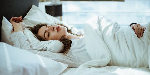 Photo of a woman sleeping