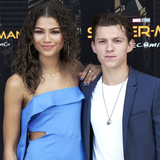 madrid, spain   june 14  actress zendaya and actor tom holland attend spider man homecoming photocall at the villamagna hotel on june 14, 2017 in madrid, spain  photo by carlos alvarezgetty images