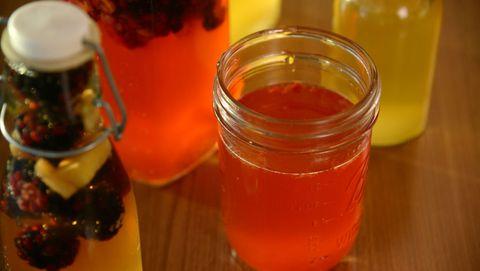 Drink, Juice, Alcoholic beverage, Punch, Food, Cocktail, Shrub, Distilled beverage, Liqueur, Ingredient,