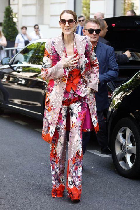 Canadian singer Celine Dion seen leaving her hotel in Paris
