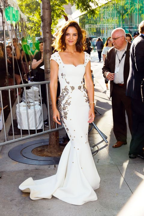 Katie Holmes white dress