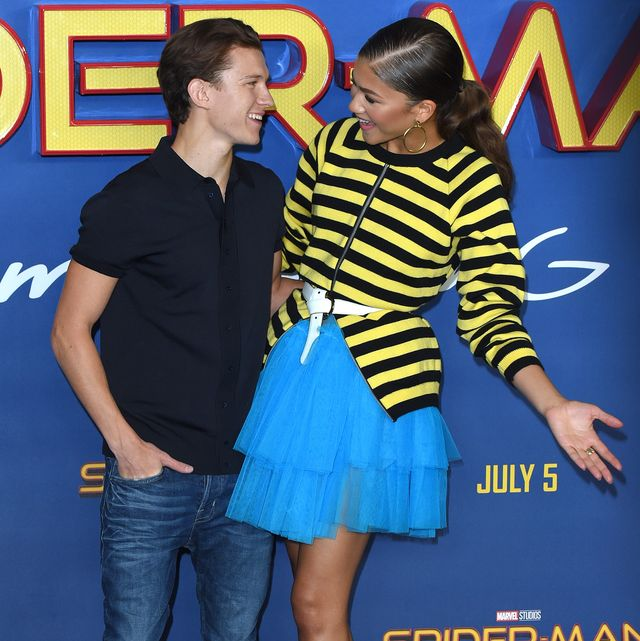 london, england   june 15  zendaya and tom holland attend the spider man  homecoming photocall at the ham yard hotel on june 15, 2017 in london, england  photo by anthony harveygetty images