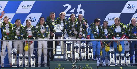 2107 24 Hours of Le Mans Podium