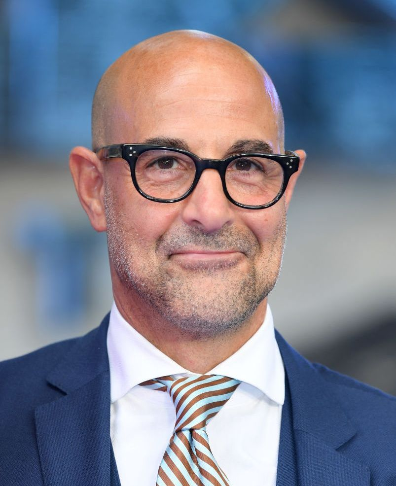 Stanley Tucci (head that's bare) The bald makes the look.