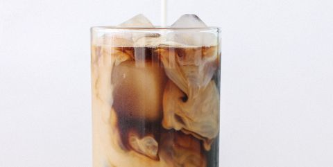 Iced coffee cafe latte