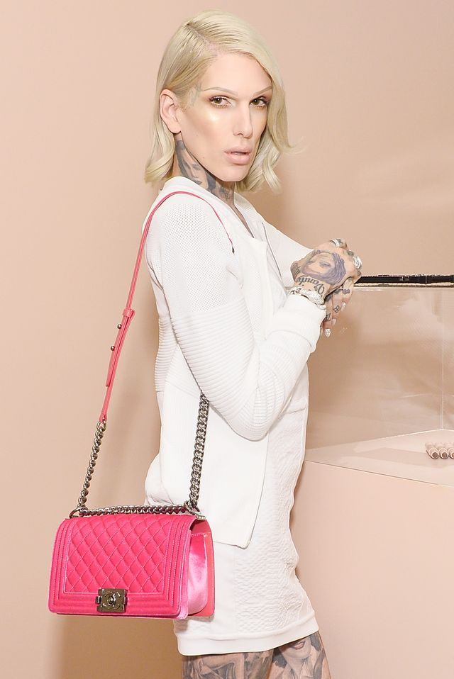 los angeles, ca   june 20  jeffree star celebrates the launch of kkw beauty on june 20, 2017 in los angeles, california  photo by stefanie keenangetty images for full picture