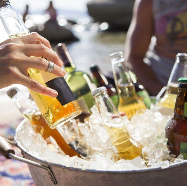 variety of drinks kept in bucket at nevada, usa