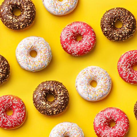 Doughnut, Food, Cuisine, Bagel, Pastry, Cider doughnut, Ciambella, Baked goods, Glaze, Confectionery,