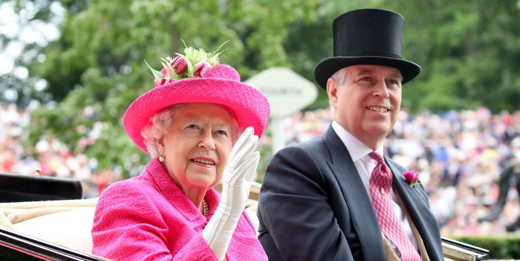 Queen Elizabeth II and Prince Andrew, Duke of York attend Royal Ascot 2017 at Ascot Racecourse