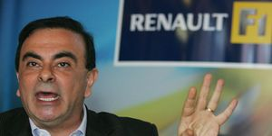 Renault CEO Brazilian Carlos Ghosn gives