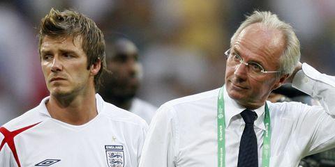 Sven Goran Eriksson David Beckham England Portugal 2006