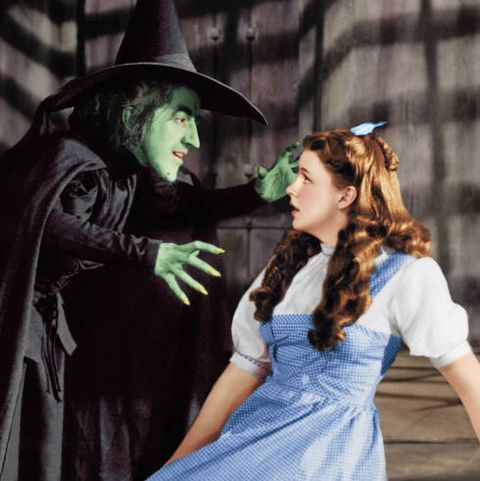 margaret hamilton 1902   1985 as the wicked witch and judy garland 1922   1969 as dorothy gale in the wizard of oz, 1939 photo by silver screen collectionhulton archivegetty images