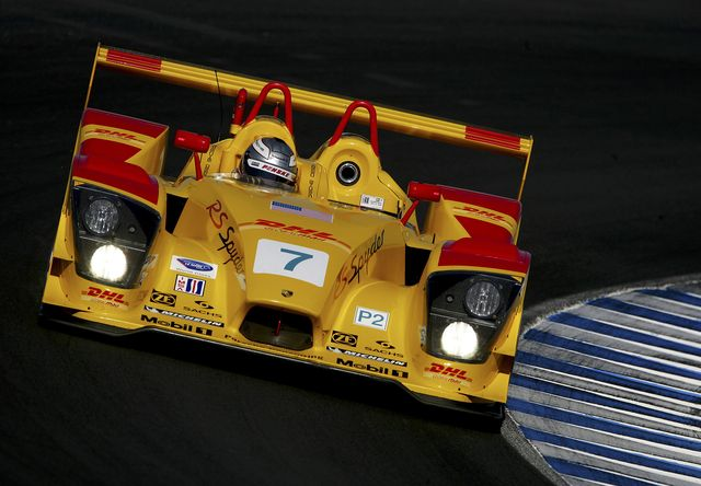 monterey, ca   october 20 romain dumas drives the 7 penske motorsports porsche rs spyder during practice for the american le mans series monterey sports car championship at the mazda raceway laguna seca on october 20, 2006 in monterey, california photo by darrell inghamgetty images