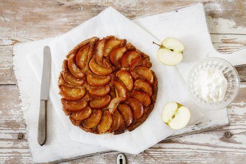 gluten free apple tartine
