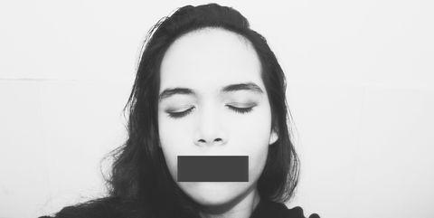 Face, White, Hair, Black, Lip, Facial expression, Nose, Eyebrow, Head, Black-and-white,