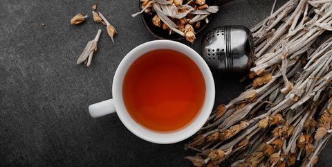 Dianhong tea, Chinese herb tea, Tea, Drink, Cinnamon, Food, Ingredient, Cuisine, Dongfang meiren, Dish,