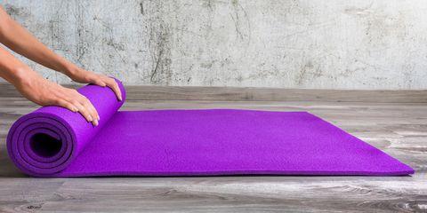 Purple, Floor, Violet, Yoga mat, Mat, Flooring, Mat, Pink, Laminate flooring, Carpet,