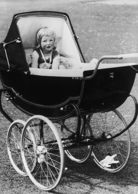 Young Lady Diana in her stroller at Park House, Sandringham in Norfolk, 1963