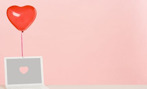 Balloon and laptop
