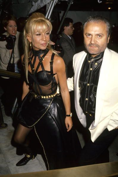 donatella versace and gianni versace at the new york public library in new york city, new york photo by ron galellaron galella collection via getty images