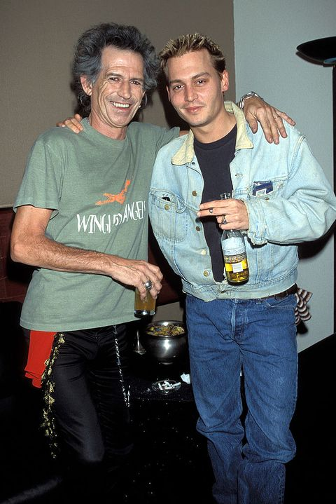 keith richards and johnny depp at the the joint at the hard rock hotel  casino in las vegas, nevada photo by kevin mazurwireimage