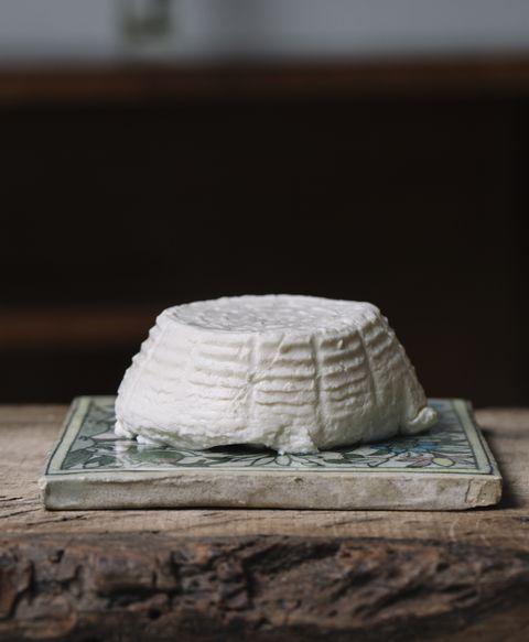 Dairy, Food, Goat cheese, Cheese, Feta, Camembert Cheese, Table, Ingredient, Ricotta, Serveware,
