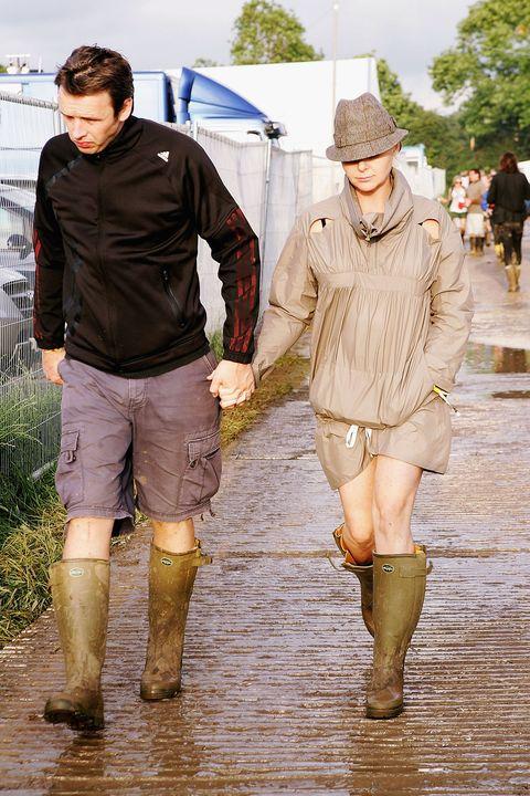 Yellow, Rain, Fashion, Leg, Footwear, Human, Outerwear, Walking, Boot, Puddle,