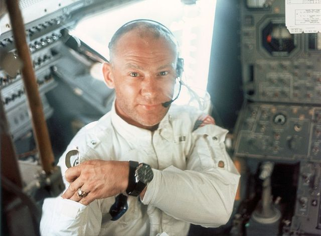 lunar module pilot edwin e aldrin jr on board the lunar module during the apollo 11 lunar landing mission, 20th july 1969 photo by neil armstrongspace frontiersgetty images