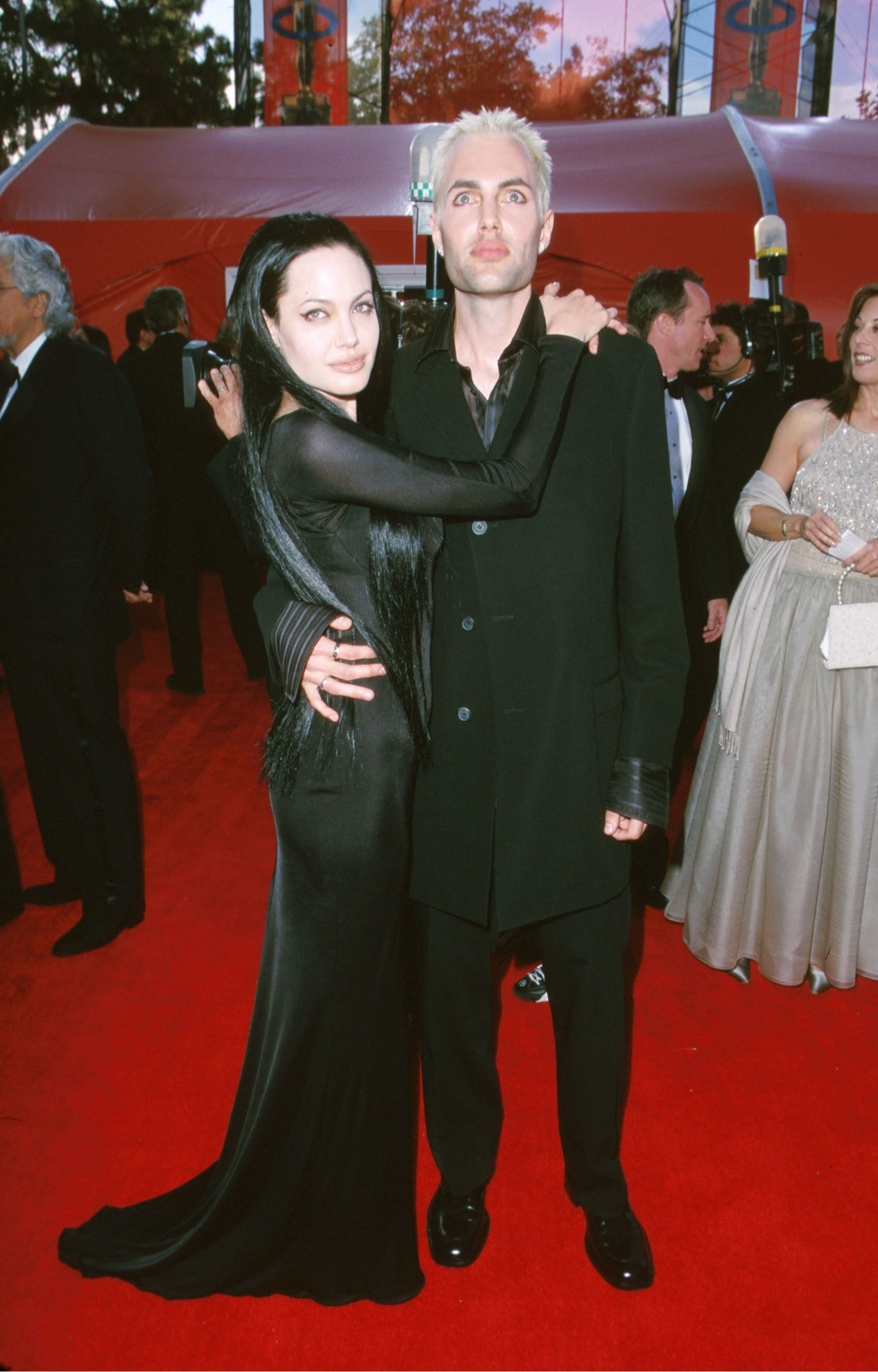 2000: When Angelina Jolie shared a kiss on the lips with her brother. Joile's brother, James, attended the Oscars with her, and they showed they were closer than the average siblings.