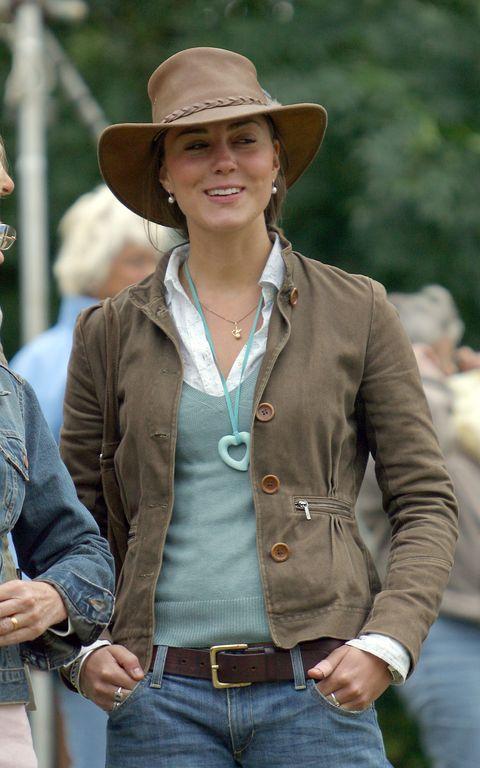 Clothing, Hat, Jeans, Outerwear, Cowboy hat, Jacket, Headgear, Fedora, Beige, Fashion accessory,