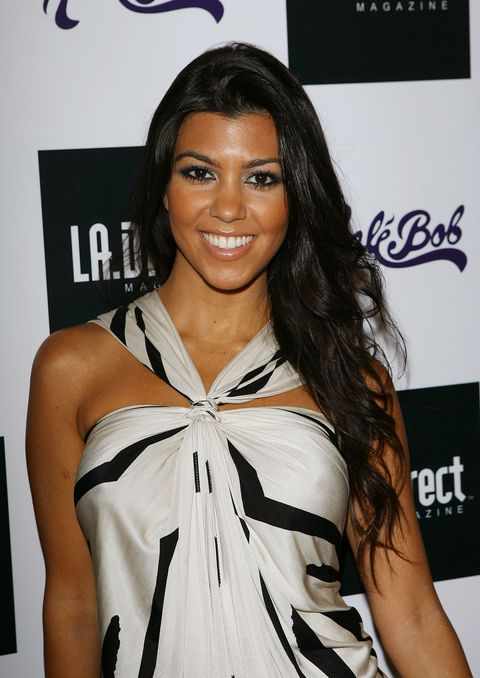 west hollywood, ca   july 21  socialite kourtney kardashian arrives at the la direct magazine expansion party at republic on july 21, 2007 in west hollywood, california  photo by michael tranfilmmagic